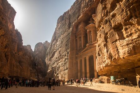The city of Petra, capital of the Nabataean Arabs, is one of the most famous archaeological sites in the world, it is Located 240 km south of the capital Amman and 120 km north of the red sea town of