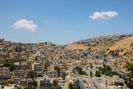 Cityscape photo for old As-Salt City in the west of Jordan