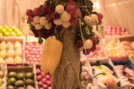 The fresh fruits at market