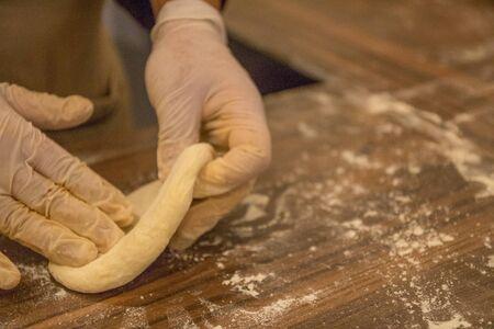 Pastry baking by arabian chef in Jordan