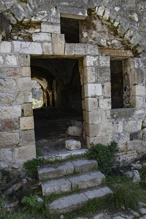 Lifta is the last remaining Palestinian village that was depopulated in 1948, which was not either completely destroyed or re-inhabited after the war. Stock fotó