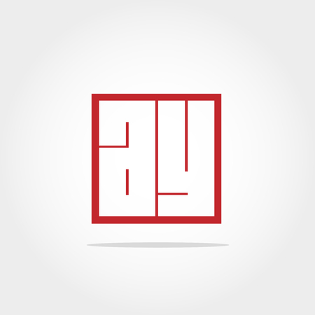 Initial Letter AY Logo Template Illustration