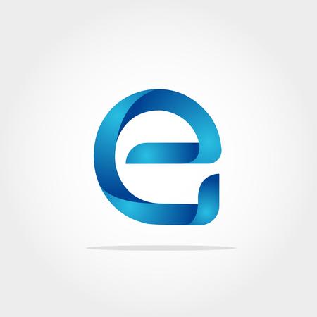 Initial Letter E Logo Template Vettoriali
