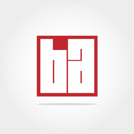 Initial Letter BA Logo Design