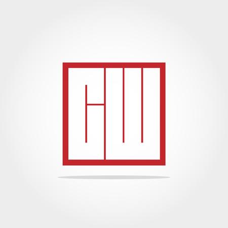 Initial Letter CW Logo Design