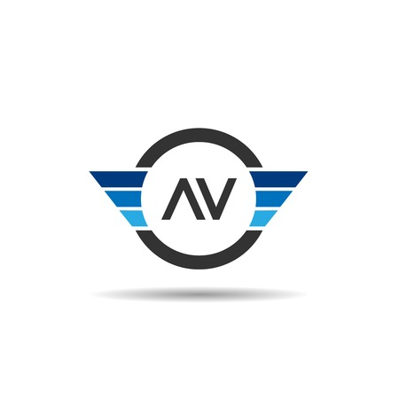 Initial Letter AV Logo Template Design Illustration