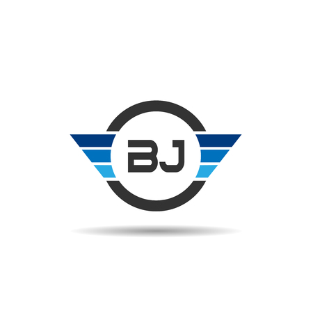 Initial Letter BJ Logo Template Design Logó