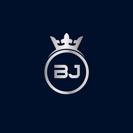 Initial Letter BJ Logo Template Design