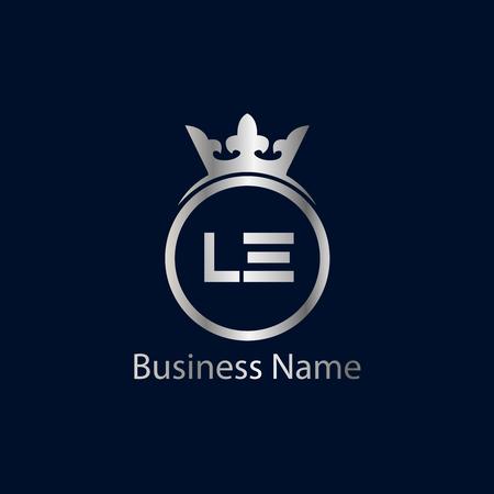 Initial Letter LA Logo Template Design
