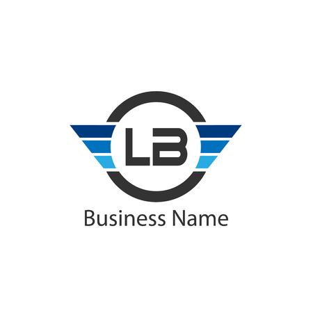Initial Letter LA Logo Template Design Logó