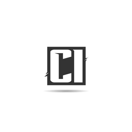 Initial Letter CI Logo Template Design Stok Fotoğraf - 108065855