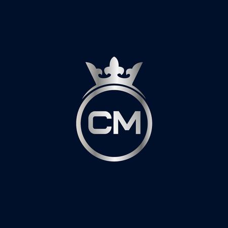 Initial Letter CM Logo Template Design  イラスト・ベクター素材