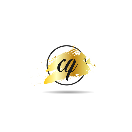 Initial Letter CQ Logo Template Design