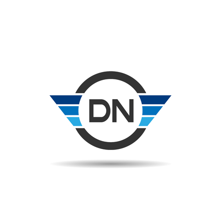 Initial Letter DN Logo Template Design