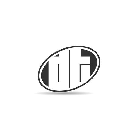 Initial Letter DT Logo Template Design Logó