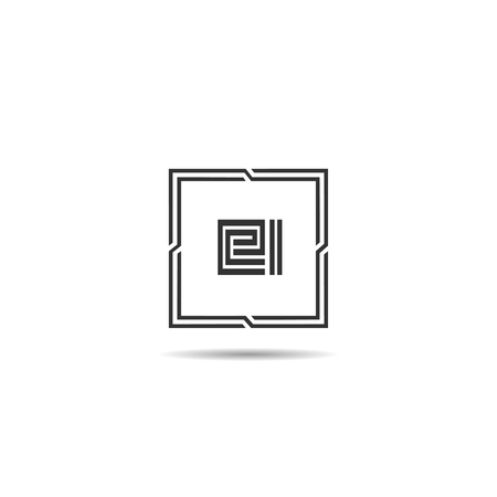 Initial Letter EI Logo Template Design Stok Fotoğraf - 108065524