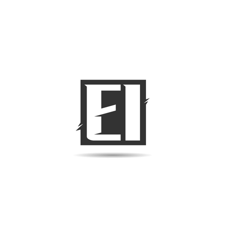 Initial Letter EI Logo Template Design