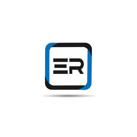 Initial Letter ER Logo Template Design Logó