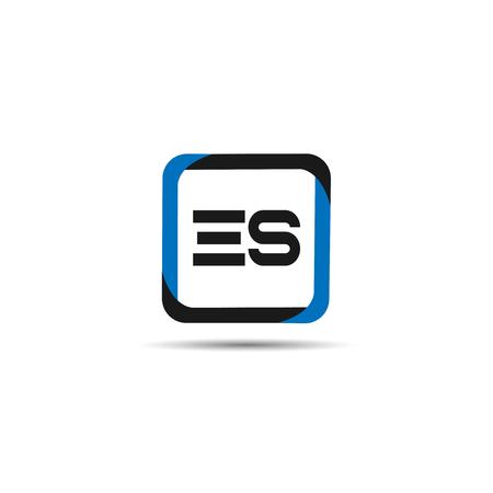 Initial Letter ES Logo Template Design