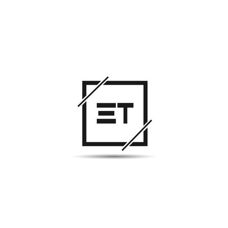 Initial Letter ET Logo Template Design Logo