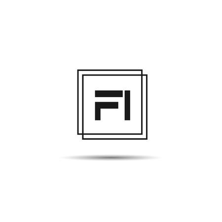 Initial Letter FI Logo Template Design Stok Fotoğraf - 125495476