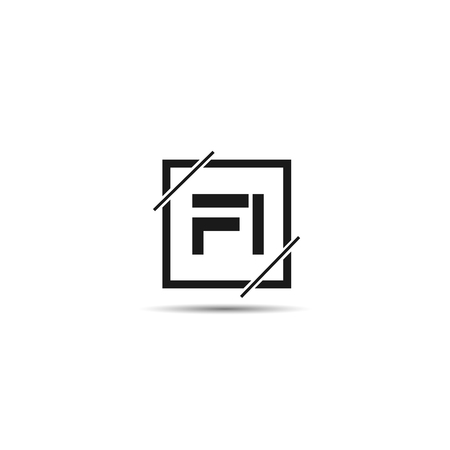 Initial Letter FI Logo Template Design