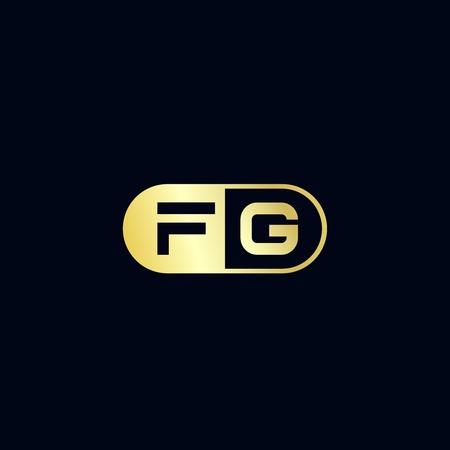 Initial Letter FG Logo Template Design