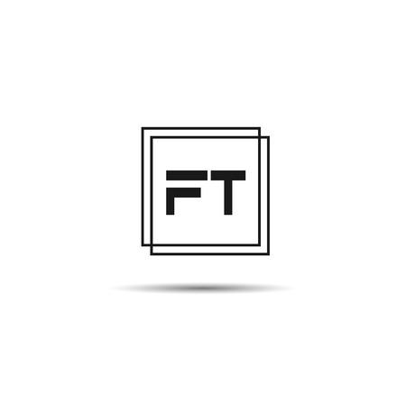 Initial Letter FT Logo Template Design Ilustracja
