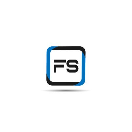 Initial Letter FS Logo Template Design Ilustração