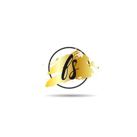 Initial Letter FS Logo Template Design Ilustracja