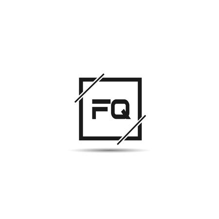 Initial Letter FQ Logo Template Design