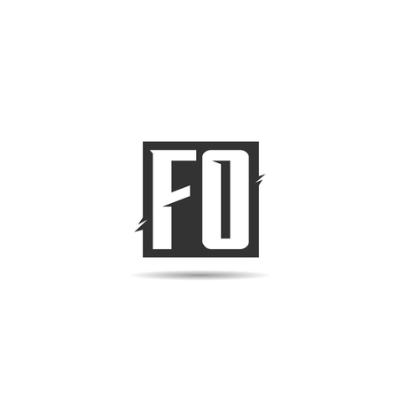 Initial Letter FO Logo Template Design
