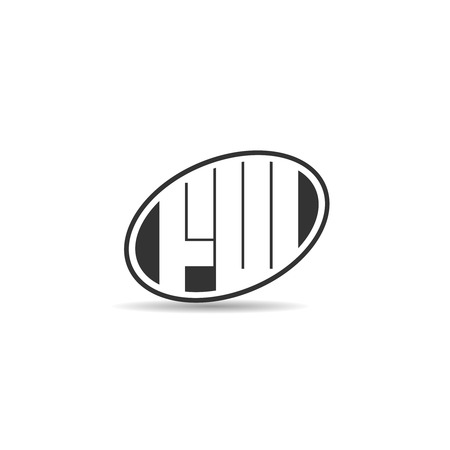 Initial Letter FW Logo Template Design
