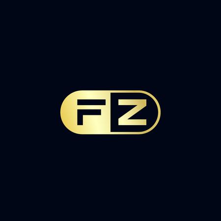 Initial Letter FZ Logo Template Design