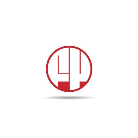 Initial Letter FV Logo Template Design