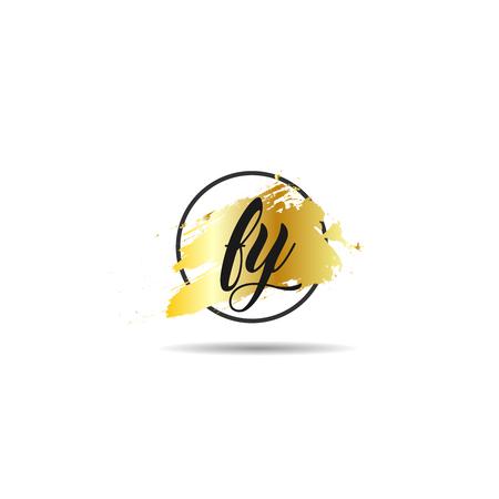 Initial Letter FY Logo Template Design Ilustracja