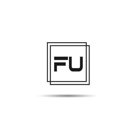 Initial Letter FU Logo Template Design