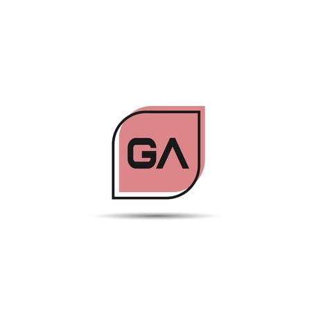 Initial Letter GA Logo Template Design Çizim