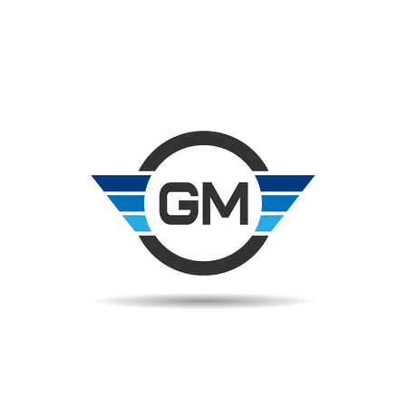 Initial Letter GM Logo Template Design