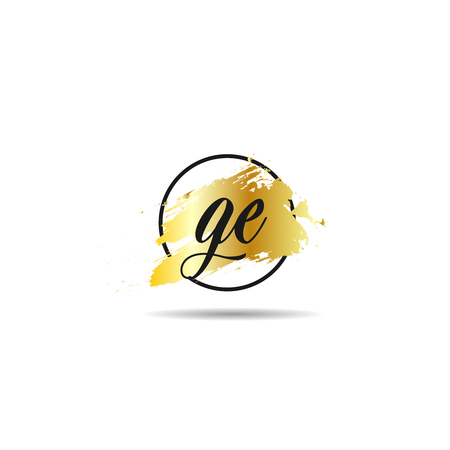 Initial Letter GE Logo Template Design
