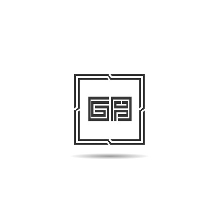 Initial Letter GB Logo Template Design  イラスト・ベクター素材