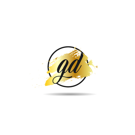 Initial Letter GD Logo Template Design