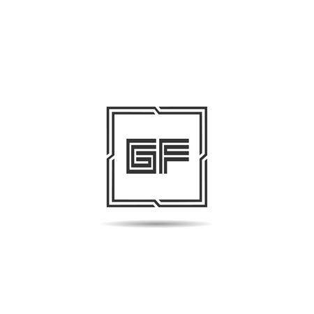Initial Letter GF Logo Template Design