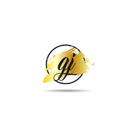 Initial Letter GJ Logo Template Design Çizim