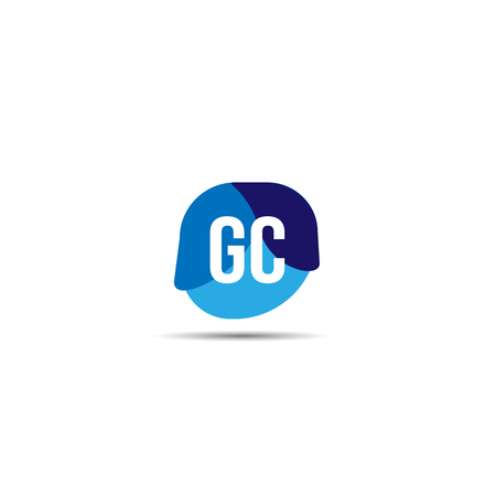 Initial Letter GC Logo Template Design