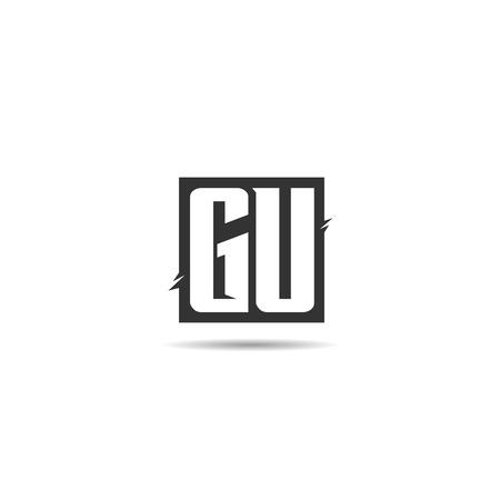 Initial Letter GU Logo Template Design Illustration