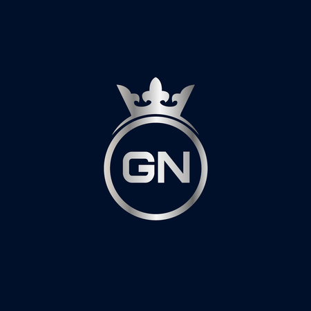 Initial Letter GN Logo Template Design