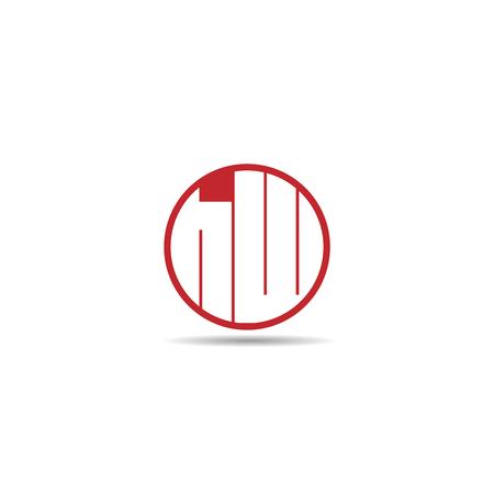 Initial Letter HW Logo Template Design
