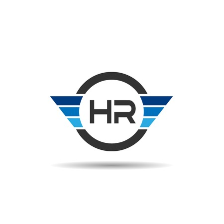 Initial Letter HR Logo Template Design Illustration