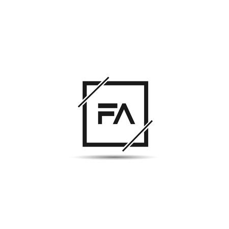 Initial Letter FA Logo Template Design